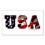 USA Flag Rectangle Sticker