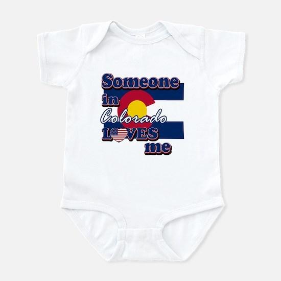 someone in colarado loves me Infant Bodysuit