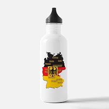Germany Map Water Bottle