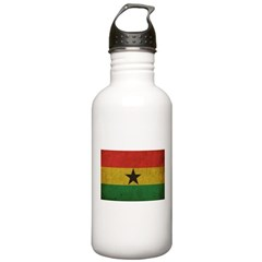 Vintage Ghana Flag Water Bottle