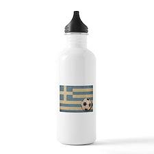 Vintage Greece Football Water Bottle
