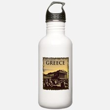 Vintage Greece Sports Water Bottle