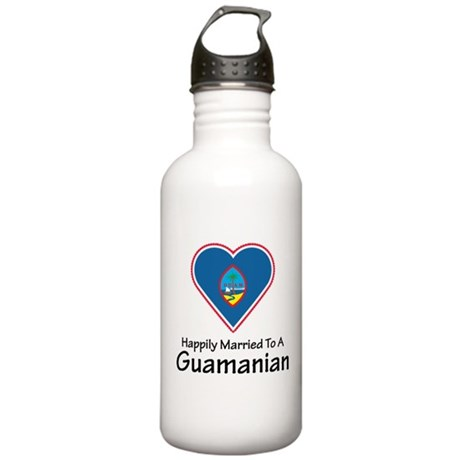 Happily Married Guamanian Stainless Water Bottle 1