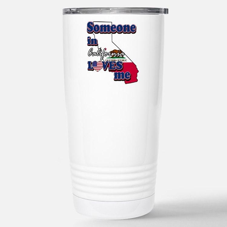 someone in california loves me Travel Mug