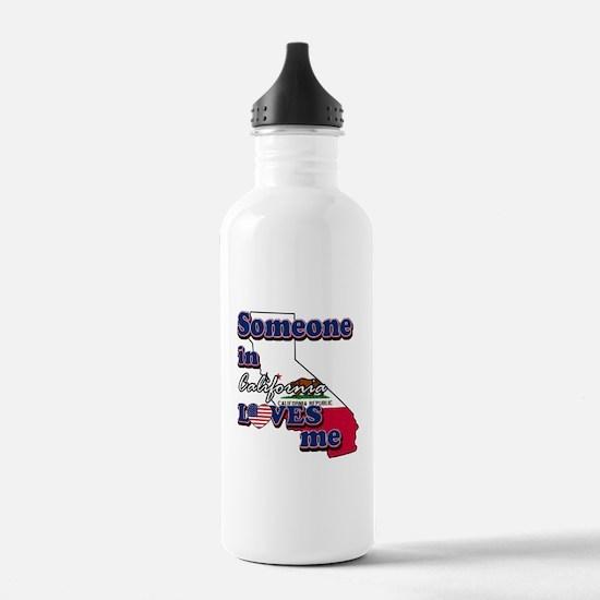 someone in california loves me Water Bottle