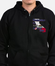 someone in california loves me Zip Hoodie (dark)