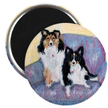 """Two Shelties 2.25"""" Magnet (100 pack)"""