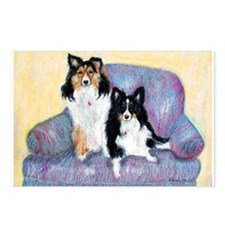 Two Shelties Postcards (Package of 8)