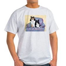 Two Shelties Ash Grey T-Shirt