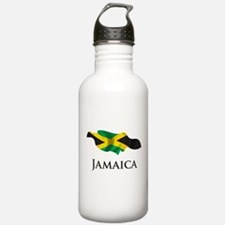 Map Of Jamaica Water Bottle