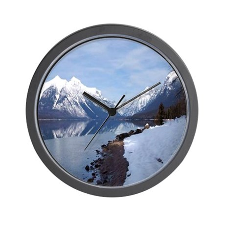 Lake McDonald In Glacier Park Wall Clock