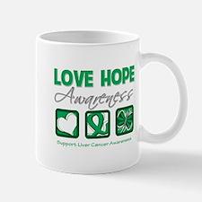 Liver Cancer Love Hope Mug