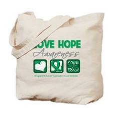 Liver Cancer Love Hope Tote Bag
