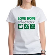 Liver Cancer Love Hope Tee