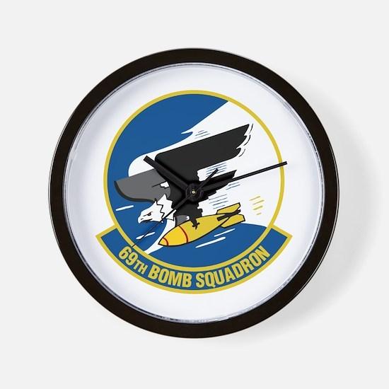 69th Bomb Squadron Wall Clock
