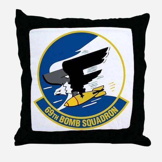 69th Bomb Squadron Throw Pillow
