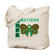 Liver Cancer Butterfly Tote Bag