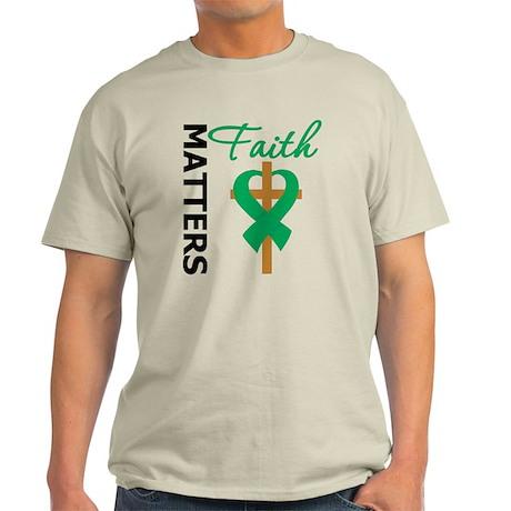 Liver Cancer FaithMatters Light T-Shirt