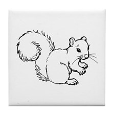 Cute Squirrel T-shirts Gifts Tile Coaster