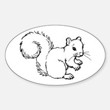 Cute Squirrel T-shirts Gifts Sticker (Oval)