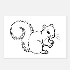 Cute Squirrel T-shirts Gifts Postcards (Package of