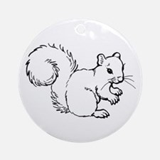 Cute Squirrel T-shirts Gifts Ornament (Round)