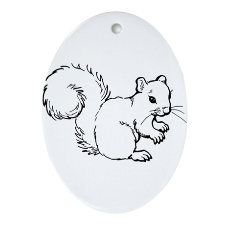 Cute Squirrel T-shirts Gifts Ornament (Oval)