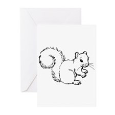Cute Squirrel T-shirts Gifts Greeting Cards (Pk of