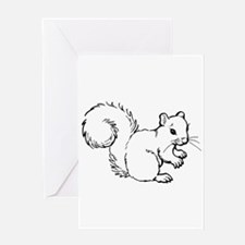 Cute Squirrel T-shirts Gifts Greeting Card