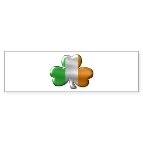 Tri-color Irish Shamrock Bumper Sticker