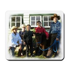 4 4-H Cowboys & a Lone 4-H Cowgirl (fuzzy edges) M