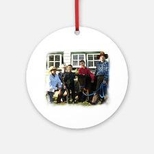 4 4-H Cowboys & a Lone 4-H Cowgirl (fuzzy edges) O