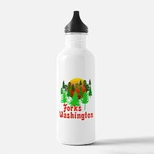 Forks Washington Twilight Water Bottle