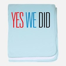 Obama Yes We Did baby blanket