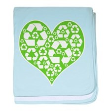 Green Heart Recycle baby blanket