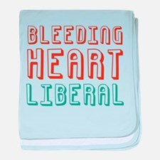 Bleeding Heart Liberal baby blanket