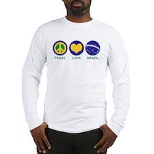 Peace Love Brazil Long Sleeve T-Shirt