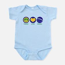 Peace Love Brazil Infant Bodysuit