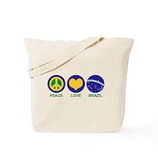 Peace Love Brazil Tote Bag