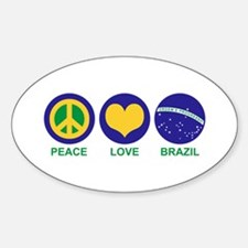 Peace Love Brazil Decal