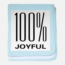 100 Percent Joyful baby blanket