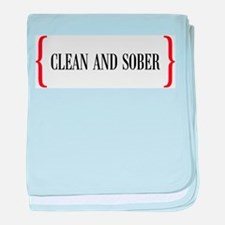 Clean and Sober baby blanket