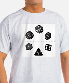 Dice Ring Ash Grey T-Shirt