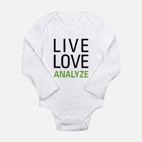Live Love Analzye Long Sleeve Infant Bodysuit