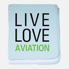 Live Love Aviation baby blanket