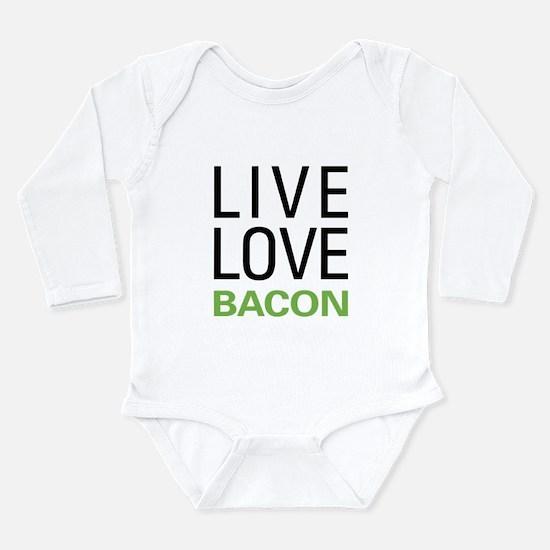 Live Love Bacon Onesie Romper Suit