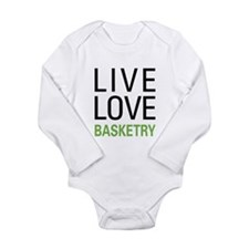 Live Love Basketry Long Sleeve Infant Bodysuit