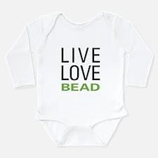 Live Love Bead Long Sleeve Infant Bodysuit