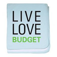Live Love Budget baby blanket