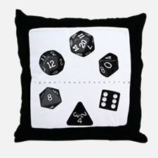Dice Ring Throw Pillow